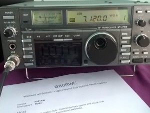 GB0RWC listening on 40m