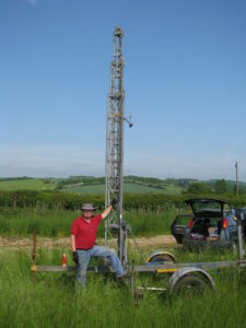 G8PZD with G0NXA's mobile tower