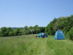 HF CW station and loo tent